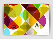 Abstract circle design business annual report print template Royalty Free Stock Photography