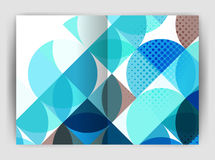 Abstract circle design business annual report print template Royalty Free Stock Images