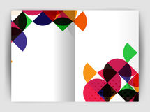 Abstract circle design business annual report print template Royalty Free Stock Photo