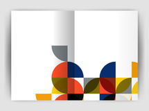 Abstract circle design business annual report print template Stock Photography