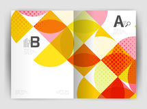 Abstract circle design business annual report print template Stock Images