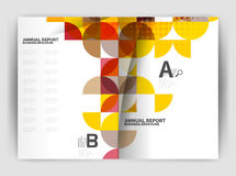Abstract circle design business annual report print template Royalty Free Stock Image