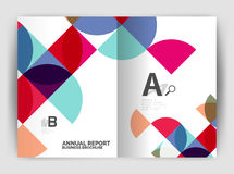 Abstract circle design business annual report print template Stock Photo