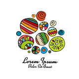 Abstract circle design element, colorful background. Vector illustration royalty free illustration