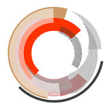 Abstract circle design element. Vector art Stock Photography