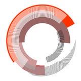 Abstract circle design element. Royalty Free Stock Photos