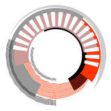 Abstract circle design element. Royalty Free Stock Photo