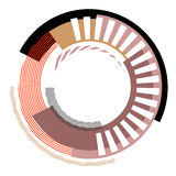 Abstract circle design element. Stock Photo