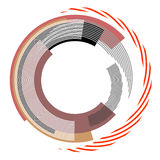 Abstract circle design element. Royalty Free Stock Image