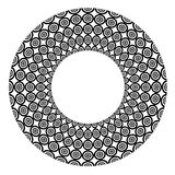 Abstract circle design element. Stock Images