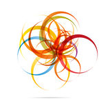 Abstract Circle Design. An abstract design of mayn dynamic, colored circles Vector Illustration