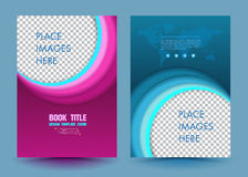 Abstract circle design vector template layout. For magazine brochure flyer booklet cover annual report in A4 size Royalty Free Stock Photos