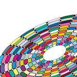 Abstract circle in different pieces Royalty Free Stock Photography