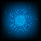 Abstract Circle digital technology background, futuristic structure elements concept background Royalty Free Stock Images