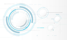 Abstract Circle digital technology background, futuristic structure elements concept background. Design Stock Photo