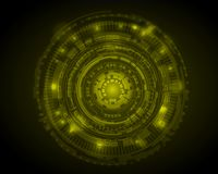 Abstract Circle digital technology background, futuristic structure elements concept background design. digital business , vector. Tech circle and technology royalty free illustration