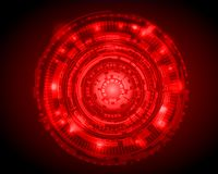 Abstract Circle digital technology background, futuristic structure elements concept background design. digital business , vector. Tech circle and technology vector illustration