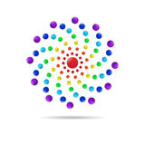 Abstract circle dots 3d logo icon. Vector illustration Stock Image