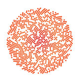 Abstract circle dotted red shape on white background. Vector illustration Royalty Free Stock Photo