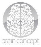 Abstract circle electronic brain Royalty Free Stock Photo