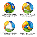 Abstract Circle ELegant Logo Concept Royalty Free Stock Image