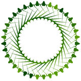 Abstract circle element in green for nature related themes Stock Photography
