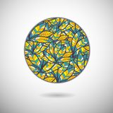 Abstract circle with feathers. Abstract circle with  triangle. Use as backdrop. Place your text on the top Royalty Free Stock Photography
