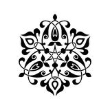 Abstract circle floral ornamental decor Royalty Free Stock Images