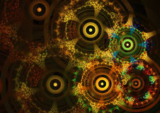 Abstract circle fractal background Royalty Free Stock Images