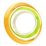Abstract circle frame made of rings. Abstract circle frame made of colorful glossy rings isolated on white vector illustration