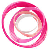Abstract circle frame made of rings Stock Photos