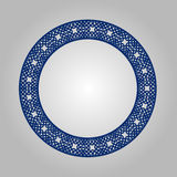 Abstract circle frame with swirls, vector ornament, vintage frame. May be used for lasercutting. Royalty Free Stock Images