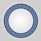 Abstract circle frame with swirls, vector ornament, vintage frame. May be used for lasercutting. Royalty Free Stock Image