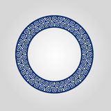 Abstract circle frame with swirls, vector ornament, vintage frame. May be used for lasercutting. Royalty Free Stock Photo