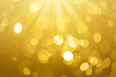 Abstract circle gold bokeh on background texture. Royalty Free Stock Photo