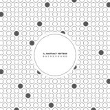 Abstract circle gray dot pattern background with copy space. You can use for cover artwork design, modern ad, poster, cover stock illustration