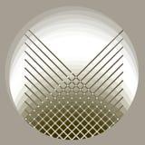 Abstract circle gray pattern. Computer generated fractal image royalty free illustration