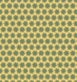 Abstract circle green yellow pattern wallpaper Royalty Free Stock Photography