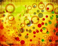 Abstract circle grunge background Stock Images