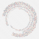 Abstract circle halftone. Illustration eps 10  illustration Royalty Free Stock Image