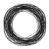 Abstract circle. Hand draw by crayon use for background Royalty Free Stock Photo