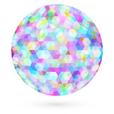 Abstract circle of hexagons. Raster Stock Photo
