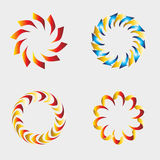 Abstract circle icon elements for design Vector set Royalty Free Stock Photography