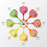 Abstract circle infographic design template. Modern vector illustration Royalty Free Stock Images
