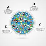 Abstract circle infographic design template. Royalty Free Stock Photo