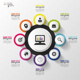 Abstract circle infographic design template. Vector illustration Stock Photography