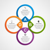 Abstract circle infographic design template. Royalty Free Stock Image