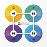 Abstract circle. Infographic design template. Vector. Illustration Royalty Free Illustration