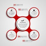 Abstract circle infographic in the form of metabolic. Design elements. Stock Image