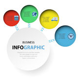 Abstract circle Infographics web design marketing icons for layo Royalty Free Stock Photos